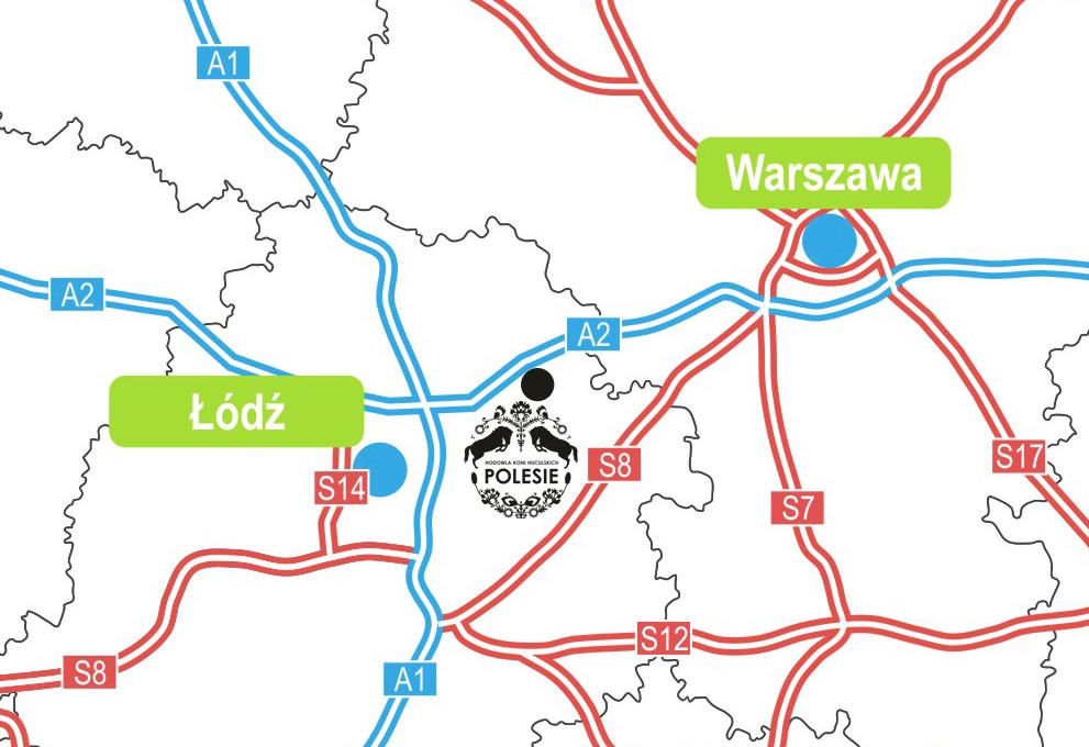 Mapa dojazdu do Huculskich